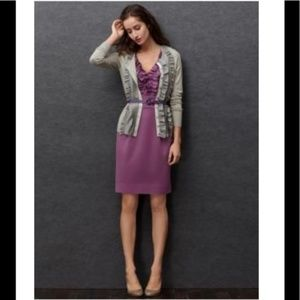 NWT Banana Republic Purple Ruffle Dress 4c